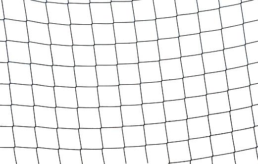 Net - Sports Equipment「Close-up of a football soccer net on  a white background.」:スマホ壁紙(13)