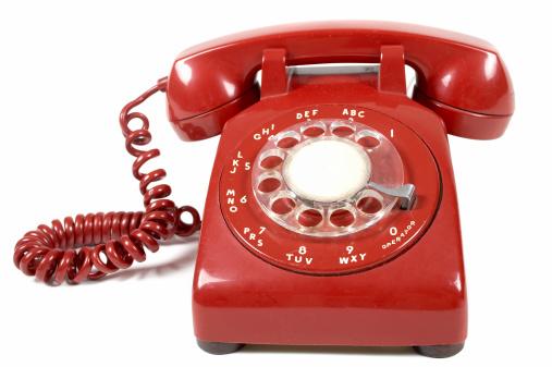 Antique「Close-up of a red landline telephone」:スマホ壁紙(16)