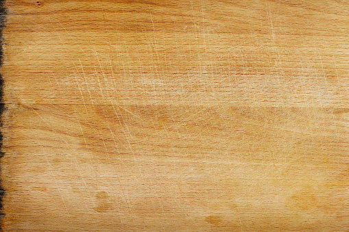 Plank - Timber「Close-up of a clean but used wooden cutting board surface」:スマホ壁紙(8)