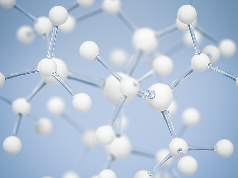 Chemical「Close-up of molecular structure with blue background」:スマホ壁紙(16)