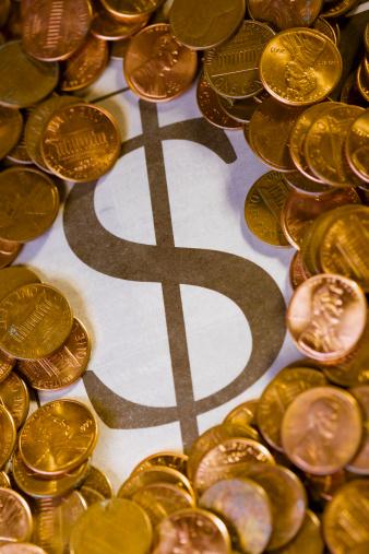 Legislation「Close-up of US Dollar Coins with a dollar sign」:スマホ壁紙(1)