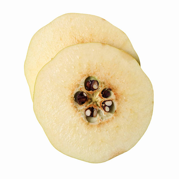 Close-up of sliced quince:スマホ壁紙(壁紙.com)