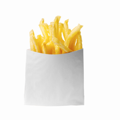 Fast Food French Fries「Close-up of a bag of french-fries」:スマホ壁紙(2)