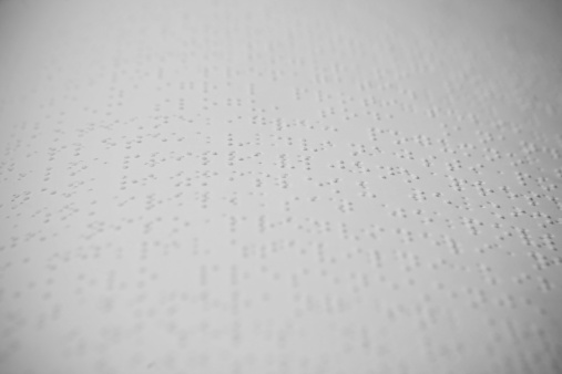 Sensory Perception「Close-up of a sheet with braille text.」:スマホ壁紙(19)
