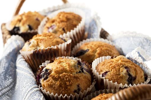 Muffin「Close-up of blueberry muffins in rectangular basket」:スマホ壁紙(17)