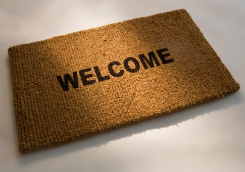 Doormat「Closeup of a welcome mat」:スマホ壁紙(11)