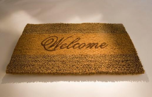 Doormat「Closeup of a welcome mat」:スマホ壁紙(11)