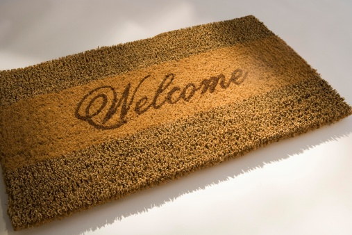 Doormat「Closeup of a welcome mat」:スマホ壁紙(14)