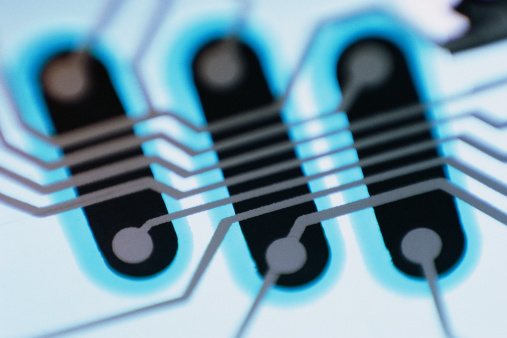 Mother Board「Close-up of printed circuit board」:スマホ壁紙(7)