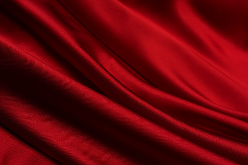 Silk「Close-up of a blood red satin fabric」:スマホ壁紙(12)