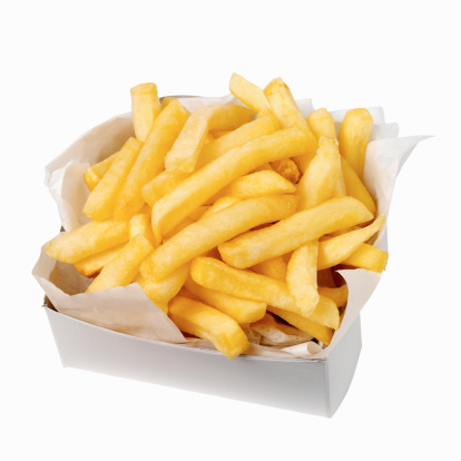 Fast Food French Fries「Close-up of a carton of french-fries」:スマホ壁紙(17)