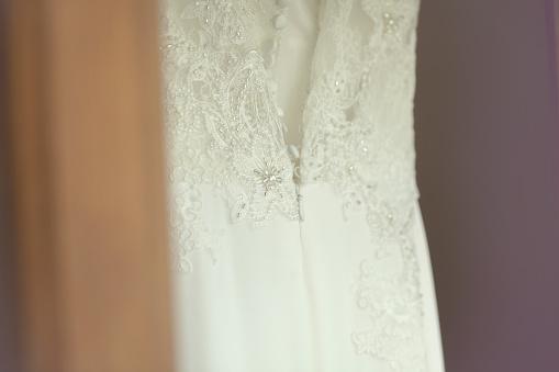おしゃれ「Close-up of a wedding dress」:スマホ壁紙(2)