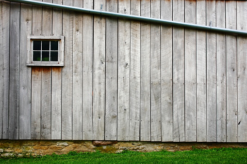 Agricultural Building「Close-up of the wood on the side of the barn」:スマホ壁紙(11)