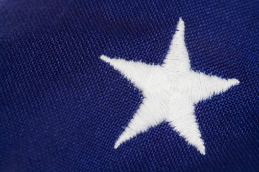 Embroidery「Closeup of star on American flag」:スマホ壁紙(15)