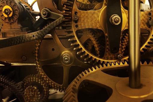 Belgium「Close-up of the Clock Mechanism in the Belfry of Ghent, Ghent, Belgium」:スマホ壁紙(1)