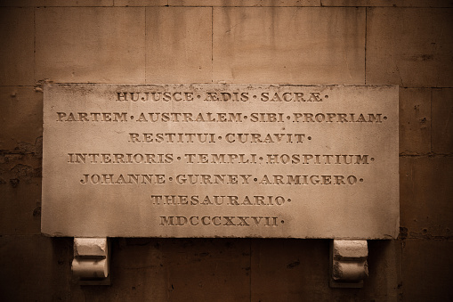 Digital Tablet「Close-Up of Plaque on Temple Church, London」:スマホ壁紙(6)