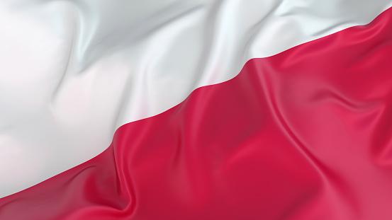 Patriotism「A close-up of a wrinkled Polish flag」:スマホ壁紙(10)