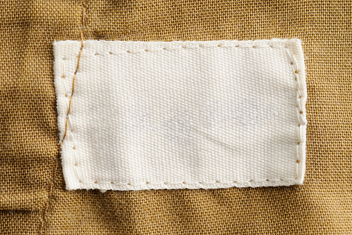 Thread - Sewing Item「Close-up of a blank white clothing label」:スマホ壁紙(15)