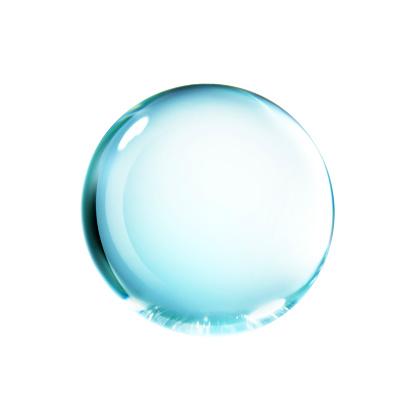 透明「Close-up of a falling water droplet, isolated on white background」:スマホ壁紙(5)