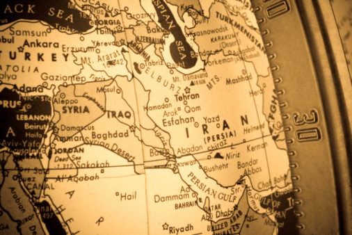 Sepia Toned「Closeup of Middle East Map Region On Globe Cross-processed」:スマホ壁紙(4)