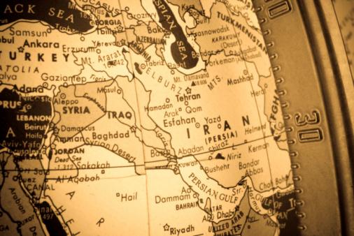 Iran「Closeup of Middle East Map Region On Globe Cross-processed」:スマホ壁紙(19)