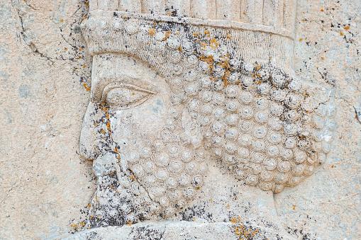 Iranian Culture「Closeup of a Bas Relief of Persian Warrior」:スマホ壁紙(1)