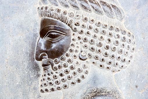 Iranian Culture「Closeup of a Bas Relief of Persian Warrior Preparing to Fight in Persepolis」:スマホ壁紙(4)