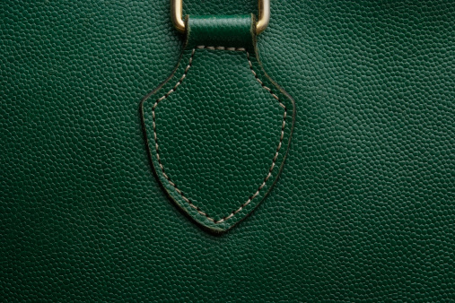 Buckle「Close-up of a green leather bag texture background」:スマホ壁紙(8)
