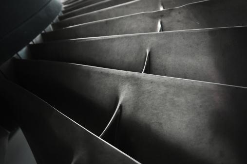 Jet Engine「Close-up of Turbine Fan Blades」:スマホ壁紙(15)