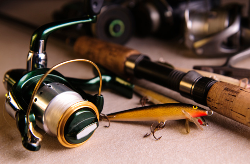 Fishing「Close-up of different fishing tackle」:スマホ壁紙(19)