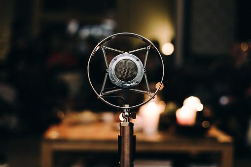 Belgium「Close-up of a professional microphone」:スマホ壁紙(6)