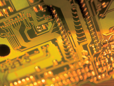 Mother Board「close-up of a the circuitry on an integrated circuit board」:スマホ壁紙(13)