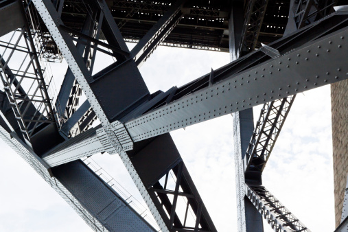 Support「Closeup of the steel framework of the Harbor bridge」:スマホ壁紙(16)