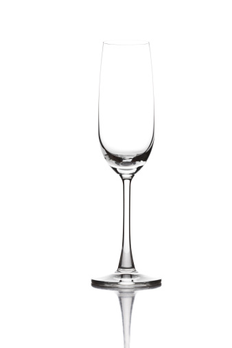 Glass - Material「Closeup of empty champagne glass on white background」:スマホ壁紙(18)