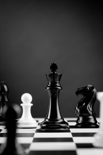 Competitive Sport「Close-up of Black Chess King among other figures on chessboard」:スマホ壁紙(18)
