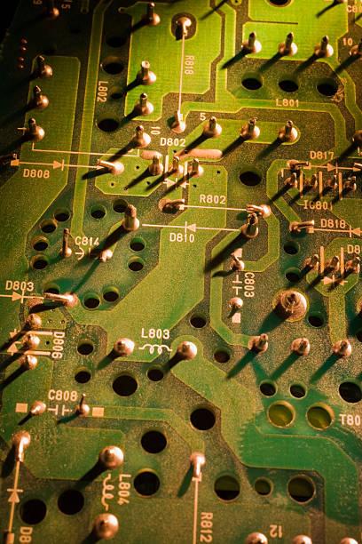 Close-up of computer circuit board:スマホ壁紙(壁紙.com)