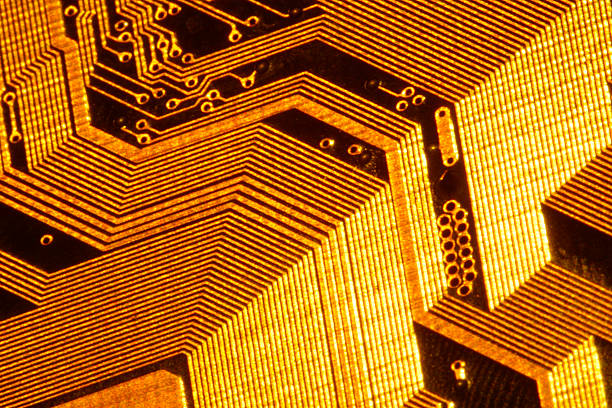 Close-up of computer circuitry:スマホ壁紙(壁紙.com)