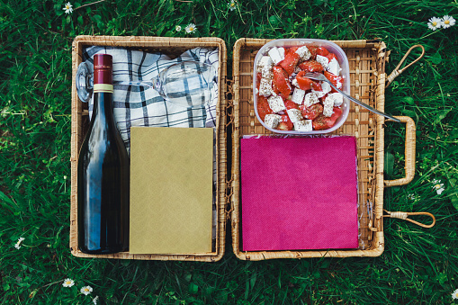 Picnic「Close-up of a picnic basket in the grass」:スマホ壁紙(16)