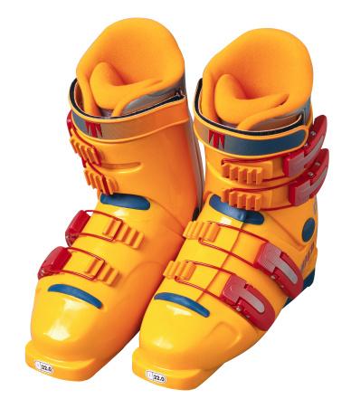 スキーブーツ「Close-Up of Yellow Ski Boots」:スマホ壁紙(6)
