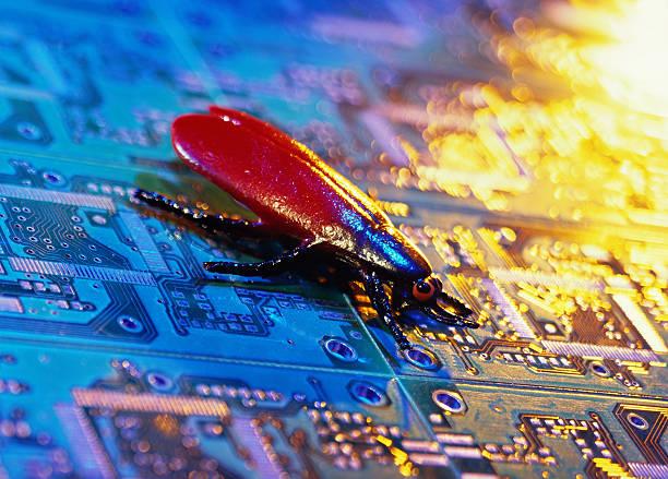 close-up of a fly sitting on a circuit board:スマホ壁紙(壁紙.com)