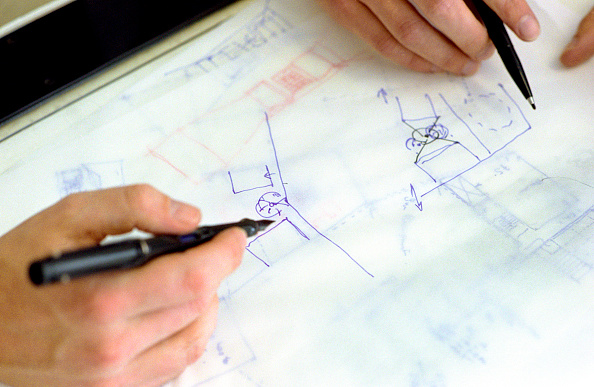 Two Objects「Close-up of interior designers drawing up plans」:写真・画像(10)[壁紙.com]