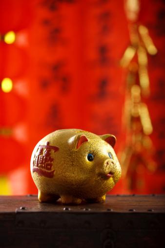 Chinese Lantern「Close-up of piggy bank」:スマホ壁紙(8)