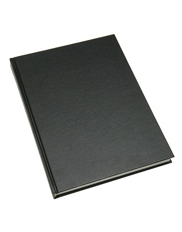 Black Color「Closeup of a thin hardcover blank black book 」:スマホ壁紙(1)