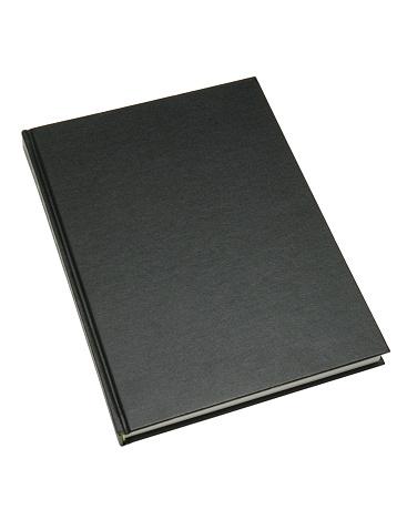 Book Cover「Closeup of a thin hardcover blank black book 」:スマホ壁紙(12)