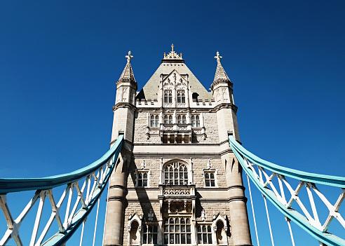 London Bridge - England「Close-up of a tower on Tower Bridge, London, United Kingdom」:スマホ壁紙(12)