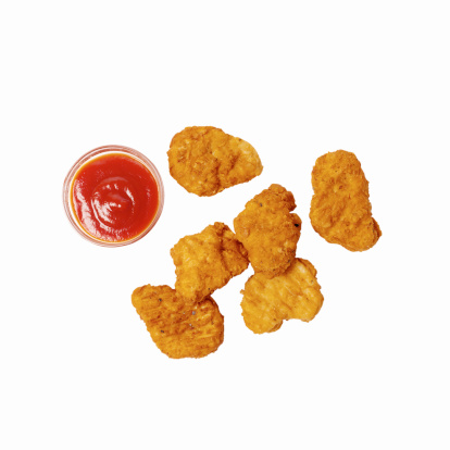 Convenience「Close-up of chicken nuggets with ketchup」:スマホ壁紙(14)
