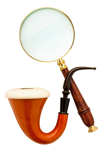 Magnifying Glass「Close-up of Sherlock Holmes pipe and magnifier」:スマホ壁紙(19)