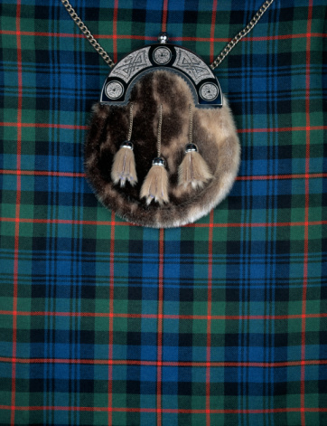 Tartan check「Close-up of sporran on kilt」:スマホ壁紙(11)