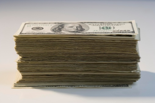 Currency「Closeup of a stack of American money」:スマホ壁紙(10)