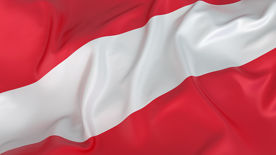 Austria「Close-up of red and white Austrian flag」:スマホ壁紙(12)
